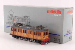 """Märklin 3670Märklin 3670, Elektrolok """"109"""" der SJ, Holzaufbau mit feinen Rippen, digital, Treibräder"""