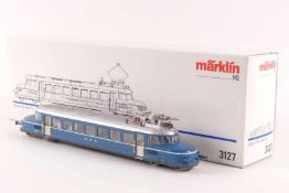 """Märklin 3127Märklin 3127, 'Blauer Pfeil', Elektrotriebwagen """"RBe 2/2 202"""" der OeBB, elektronische"""