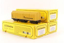 LUX-Modellbau HO-Schienen- und Oberleitungsschleifwagen 9130, Mittelleiterscheifwagen 9136, Gleiss
