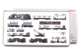 Märklin 26960, Bayerischer Güterzug, Mallet-Tenderlok Gt 2 x 4/4, elf Wagen, zwei LKW, Digital-Te