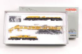 """Märklin 49950, Eisenbahn-Kran-Set mit Digital-Funktionen, Kranwagen """"Goliath"""", zwei Hilfswagen, dr"""