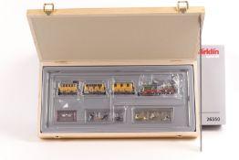 "Märklin 26350, Historischer Personenzug ""Adler"", Dampflok, Digital fx-System, Tender, drei Wagen,"