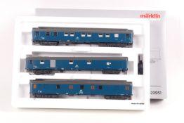 Märklin 49951, Hilfswagen-Set, zum Kranzug,drei Wagen, Licht und Sound digital schaltbar, sehr gut