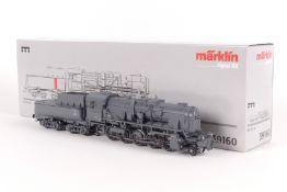 """Märklin 39160, Dampflokomotive """"42 9000"""" der DB, Franoc-Crosti-Abgasvorwärmer, C-Sinus-Motor, fx-"""