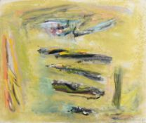Patrick Collins RHA (1911-1994) Potato Patch (AKA Lazy Beds) (1981) oil on canvas signed lower right