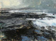 Donald Teskey RHA (b.1956) Long Shore II (2014) acrylic on paper signed lower left and titled
