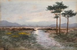 William Percy French (1854-1920) Evening Light, Connemara watercolour signed lower right 16 x 24½
