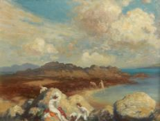George William Russell (AE) (1867-1935) The Bathers oil on canvas 41 x 53½cm (16.1 x 21.1in)