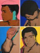 Andy Warhol (1928-1987) American Muhammad Ali (1978) (F. & S. II.179-182) portfolio of 4