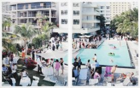 Massimo Vitali (b.1944) Italian Sagamore (2002) offset lithographs in colours (2) - diptych -