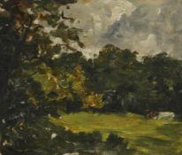 Nathaniel Hone RHA (1831-1917) Cattle Grazing oil on canvas board 25 x 30cm (9.8 x 11.8in)