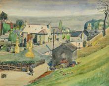 Harry Aaron Kernoff RHA (1900-1974) Old Village Milltown, Dublin (1935) watercolour signed lower