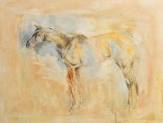 Basil Blackshaw HRHA RUA (1932-2016) Grey Mare oil on canvas signed lower left 101½ x 132½cm (40 x