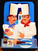 Graham Knuttel (b.1954) Hot in the Kitchen oil on canvas signed lower left 102 x 76½cm (40.2 x 30.