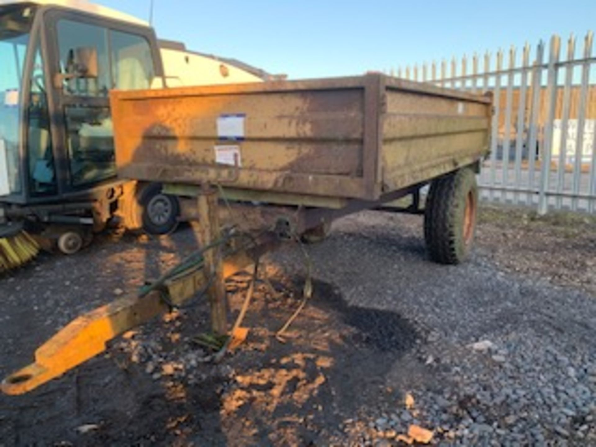 Lot 1269 - DROPSIDE TIPPING TRAILER