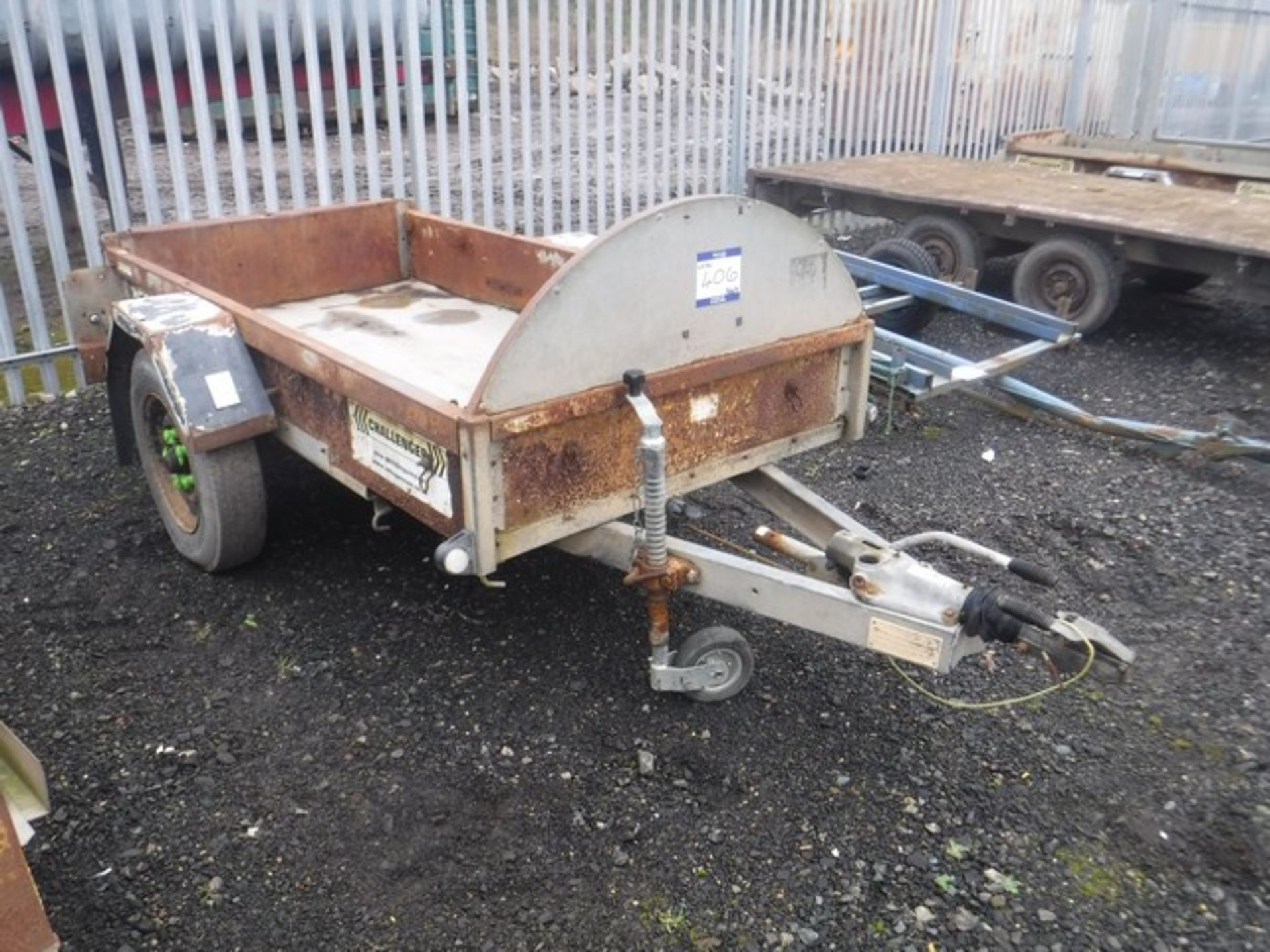 Lot 1406 - INDESPENSION CHALLENGER SINGLE AXLE TRAILER 8x4 VIN No. - G138403