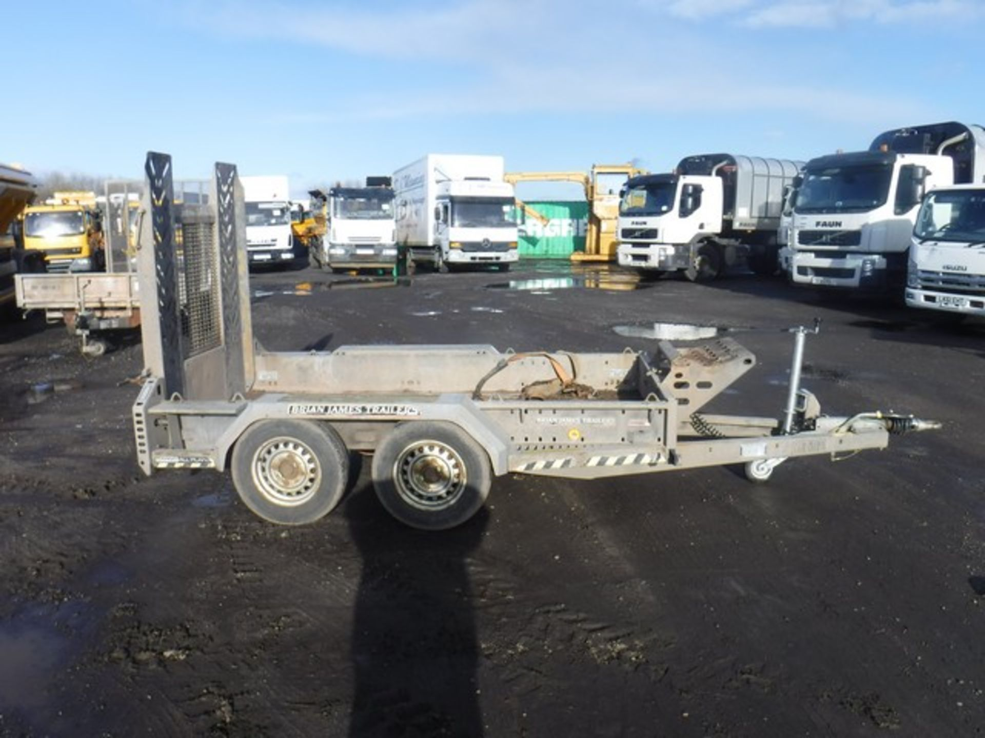 Lot 1408 - BRAIN JAMES SMALL PLANT TRAILER 9FTx5FT ASSET NO - 758-5108 SN - SJB888GBPDD000812