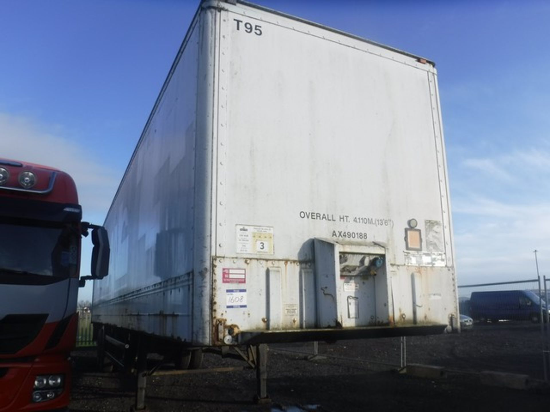 Lot 1608 - MONTRACON 2 AXLE BOX TRAILER 40x8FT SN - DV60120