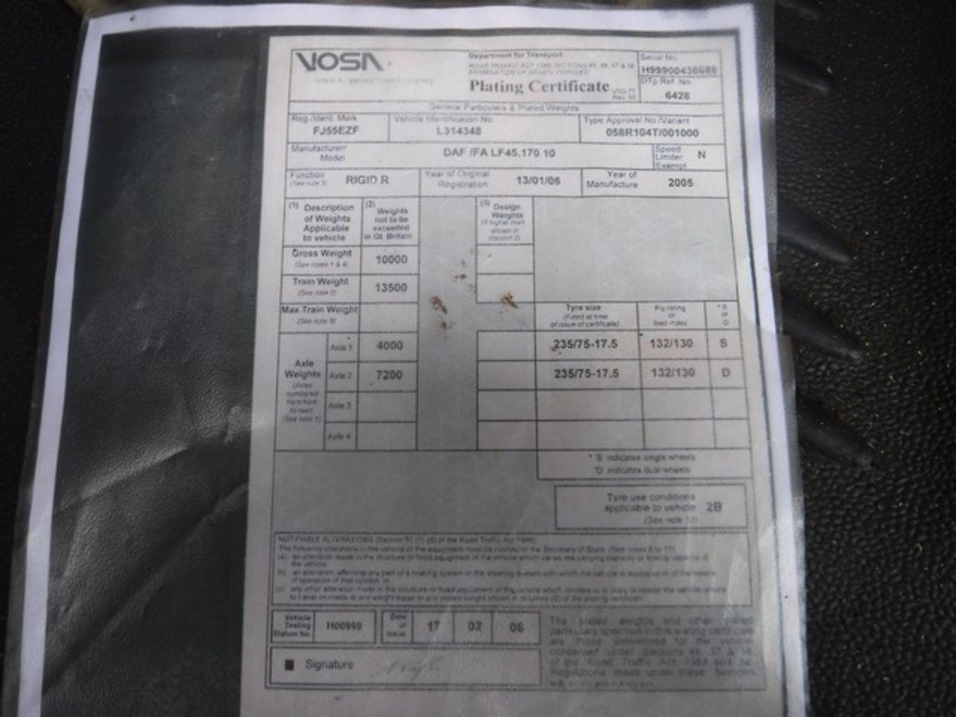 Lot 1738 - DAF TRUCKS FA LF45.170 - 3920cc