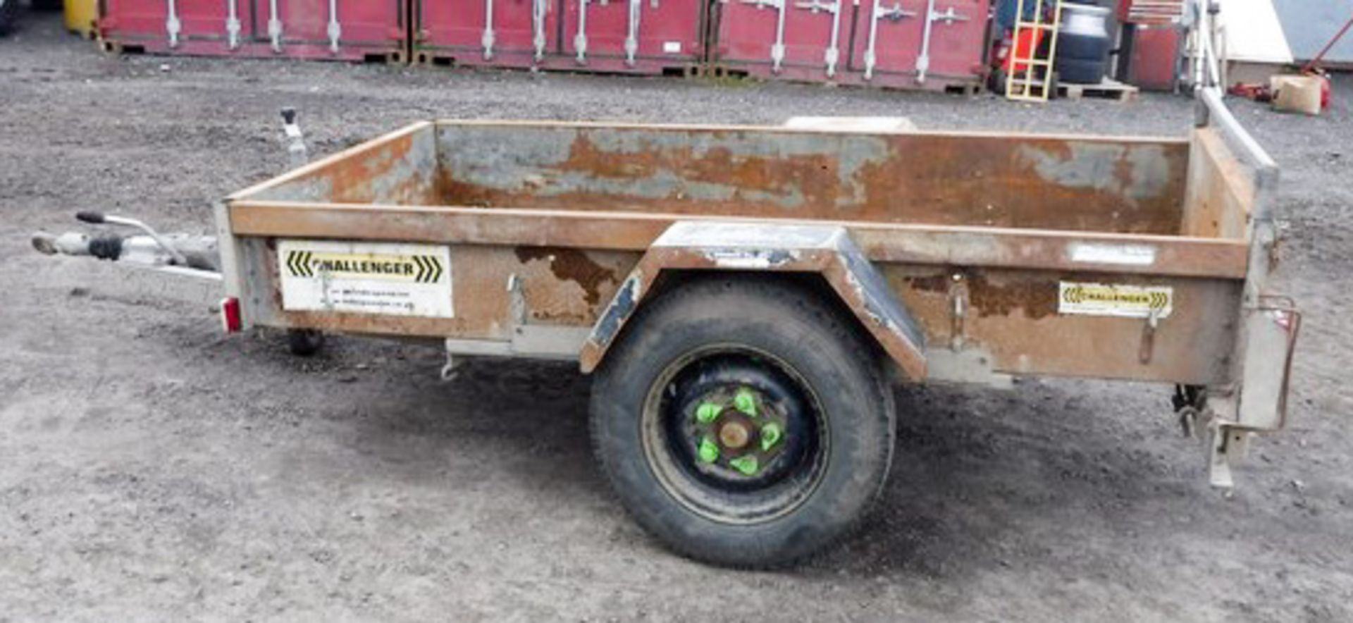 Lot 1403 - INDESPENSION CHALLANGER SINGLE AXLE TRAILER 8X4 C/W TAILGATE SN - G38405 ASSET NO - 758-3027