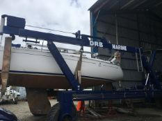 18T SELF PROPELLED WISE AMPHIBIOUS MARINE HOIST C/W VARIABLE WIDTH FRAME **RECENTLY REFURBED - NEW P