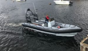 PACIFIC 22 MARINE RIB, 4CYL FORD DIESEL C/W GALVANISED TWIN AXLE TRAILER