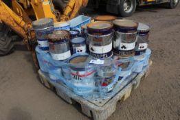 Mixed pallet of Hempel hempadur 35560, Hempel curing agent 953GB/976GB and various approx 15 tins AN