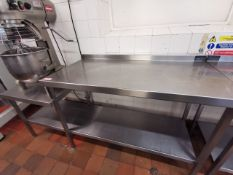 Excel Stainless steel kitchen worktop corner 3.5ft with lower shelf 1ft