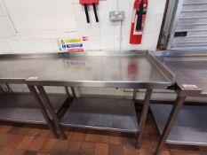 Excel Stainless steel kitchen worktop corner 2.5ft
