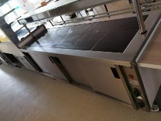 Moffat Comercial hot plate with hot cupboard White and stainless steel 7.5ft