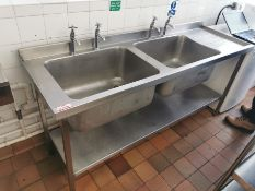 Stainless steel dual basin 6ft