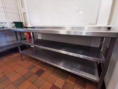 Excel Stainless steel kitchen worktop 6ft