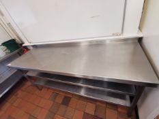 Excel Stainless steel kitchen worktop Corner 6ft