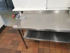 Excel Stainless steel kitchen worktop with tin opener built in 5.5 ft