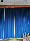 Tall curtains aprox 15ft x 7ft Navy blue
