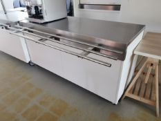 Moffat 6ft Comercial counter with storage and built in plug sockets