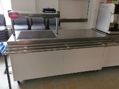 Moffat Comercial hot plate/counter with hot cupboard White and stainless steel 6ft (hot plate covers