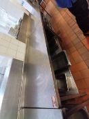 Excel Stainless steel kitchen worktop 5.5 ft