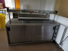 Moffat Comercial hot plate with hot cupboard Blue and stainless steel 6ft