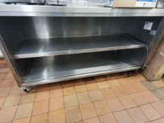Stainless steel counter 6ft with built in plug socket