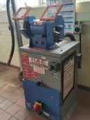 Duel wheel grinder & stand