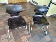 Pair of designer wooden chairs (Flototto)