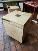 4x Wooden project trolleys