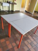 Pair of double drawing tables