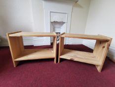 2x Small wooden shelves