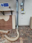"""extraction piping 6"""" bore with flexi hoses"""