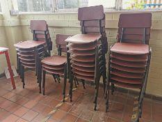 24x Vintage junior classroom chairs
