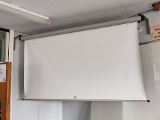 Pull-down projector screen