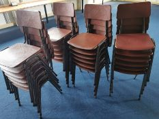 24x Vintage classroom chairs