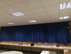 Pair of Blue curtains 3.5m x 1.80m x2